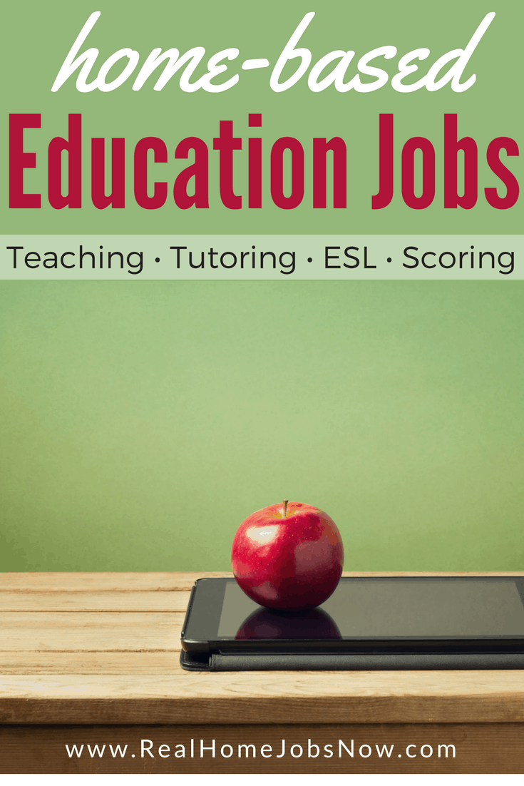 This list of home-based jobs in the education field provides teaching, tutoring, ESL, and test scoring opportunities. You can also find online education positions in administration, curriculum, admissions, and other staff.