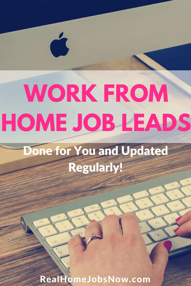 With these free work from home leads, your dream job may be a click away. Jobs are updated regularly. Find your home-based job today!