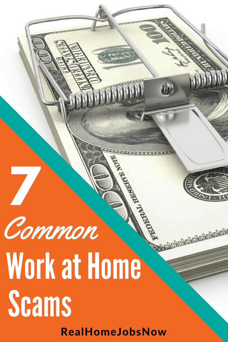 Some work at home scams are tried and true, and they've been around forever because people keep falling for them. Save yourself time and money by understanding what some of the most common scams are!