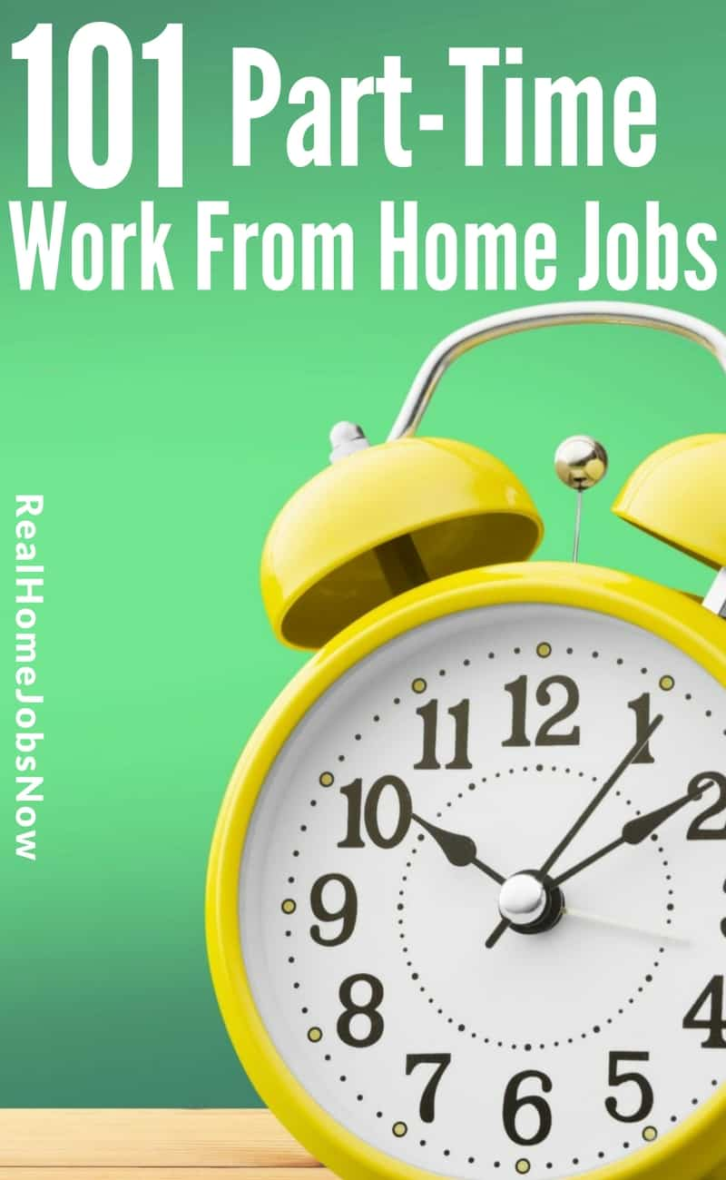 These companies offer part time work from home for several industries - from live chat jobs to freelance writing. Find your home-based part time job today! via @realhomejobsnow