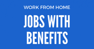 Work from home jobs with employee benefits