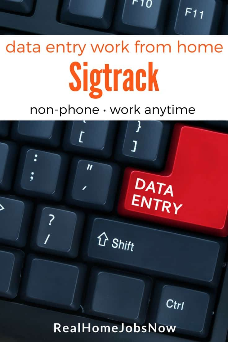 Sigtrack Review Legitimate Online Data Entry Jobs